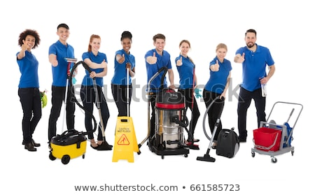 Smiling Male Janitor Gesturing Thumbs Up Stock photo © AndreyPopov