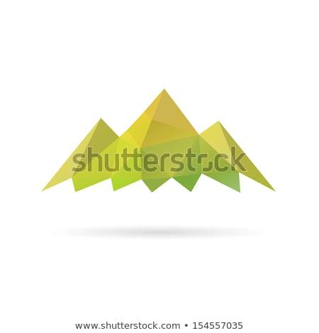 простой стилизованный зеленый горные вектора икона Сток-фото © blaskorizov