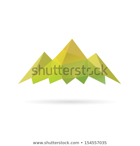 simple stylized green mountain vector icon design symbol Stock photo © blaskorizov