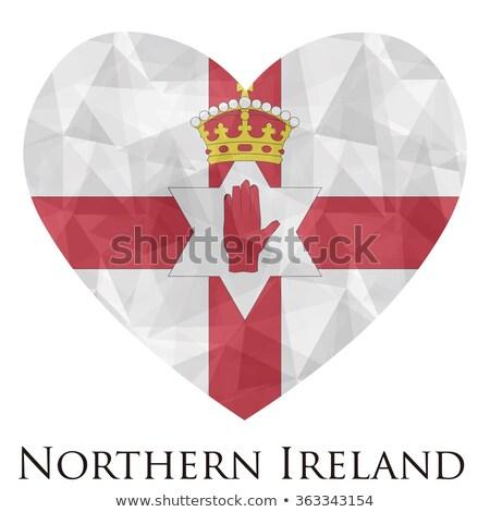 Irlanda bandiera a forma di cuore illustrazione design sfondo Foto d'archivio © colematt