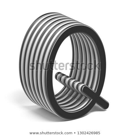 Zwart wit doopvont 3D 3d render Stockfoto © djmilic