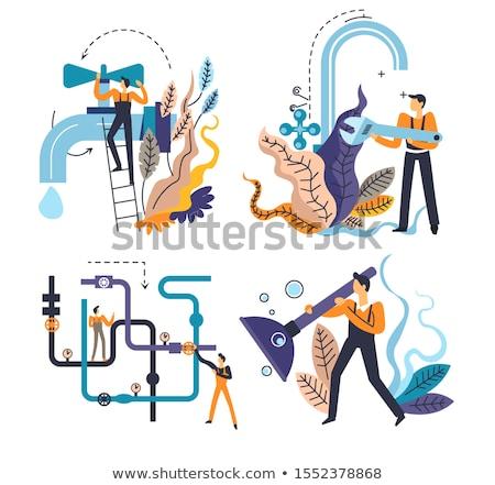 Sewerage system concept vector illustration. Stock photo © RAStudio