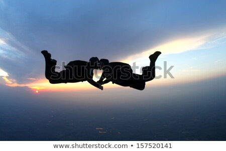 couple with parachute Stock photo © adrenalina