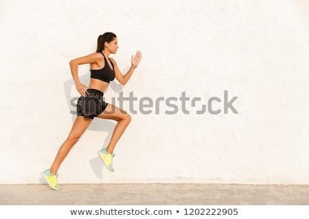 Tam uzunlukta görüntü fitness woman 20s Stok fotoğraf © deandrobot
