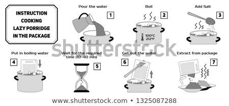 Instrução cozinhar preguiçoso pacote instruções manual Foto stock © heliburcka