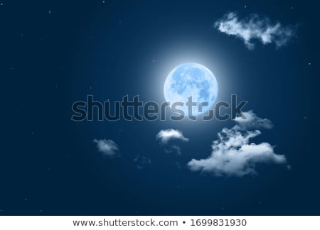 Background scene with fullmoon and stars in space Stock photo © colematt