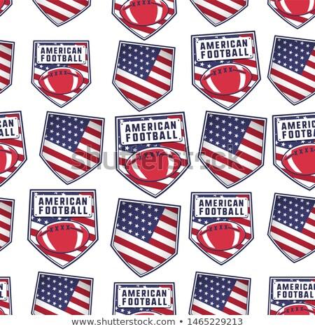 Amerikaanse voetbal patroon ontwerp USA Stockfoto © JeksonGraphics