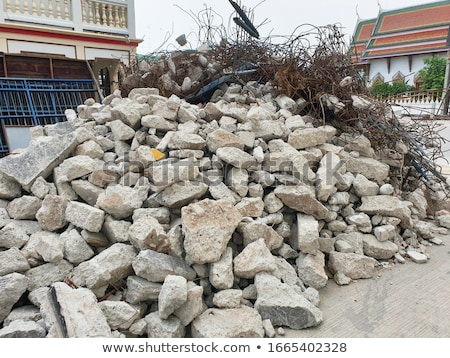 Large stones rubble from a demolished building, Stock photo © latent
