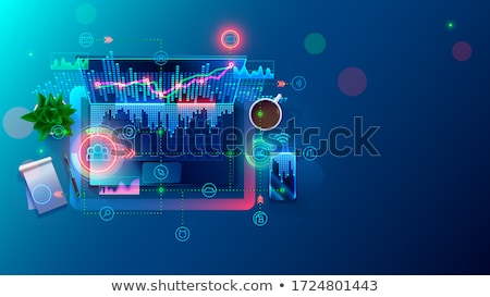 Nuvem colaboração tecnologia remoto negócio gestão Foto stock © RAStudio