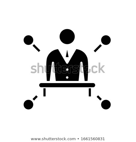 The businessman pointing  Idea concept. Vector flat design illustration. Horizontal layout with a te Stock photo © makyzz