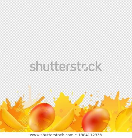 Pomarańczowy mango granicy farby przezroczysty gradient Zdjęcia stock © cammep