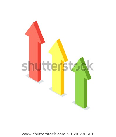 arrow raising up financial growth crowdfunding stock photo © robuart