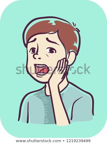緩い · 歯 · 実例 · 少年 · 子 - ストックフォト © lenm