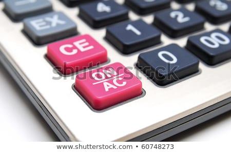 podatku · przycisk · działalności · biały · Kalkulator - zdjęcia stock © freedomz