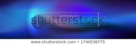 синий баннер дизайна волнистый линия Сток-фото © SArts