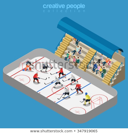 Isometric Ice Hockey Arena Illustration Stock photo © artisticco
