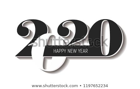 2020 year. Calendar for January. Isolated 3D illustration Stock photo © ISerg