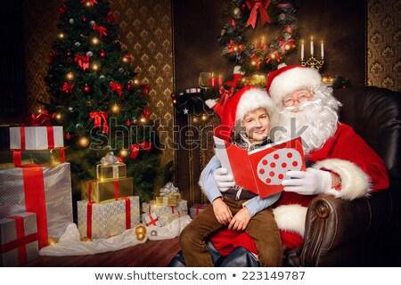 Kicsi fiú kész ünnep boldog új évet vidám Stock fotó © galitskaya