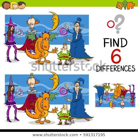 Diferencias juego fantasía Cartoon ilustración Foto stock © izakowski