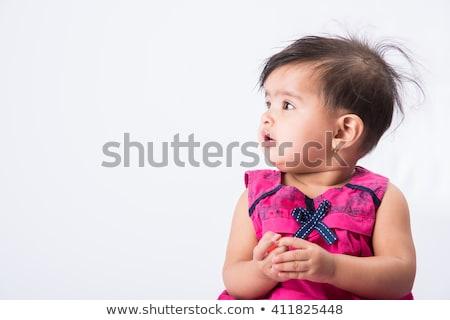 Photo stock: Portrait · sweet · indian · bébé · regarder