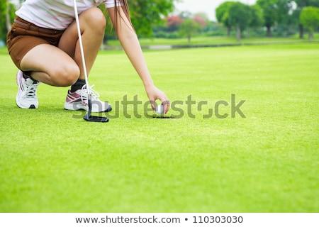 golf · kulüp · top · spor · gün · batımı - stok fotoğraf © lichtmeister