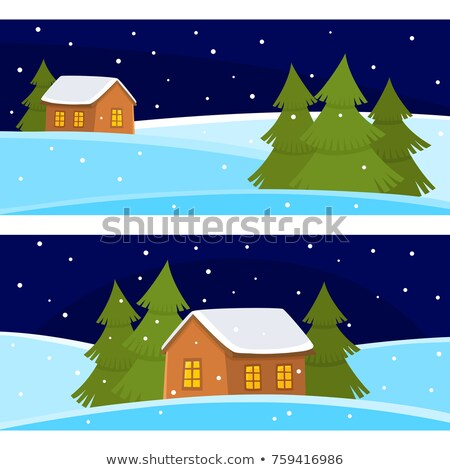 зима · Cartoon · бумаги · пейзаж · веселый · Рождества - Сток-фото © margolana