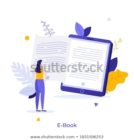Elektronikus könyv digitális szerkentyű szín vektor Stock fotó © pikepicture