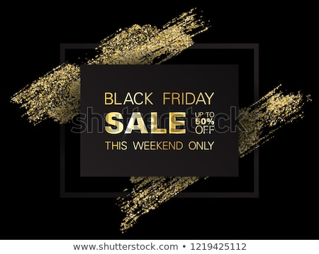 gold and black friday sale banner beautiful design Stock photo © SArts