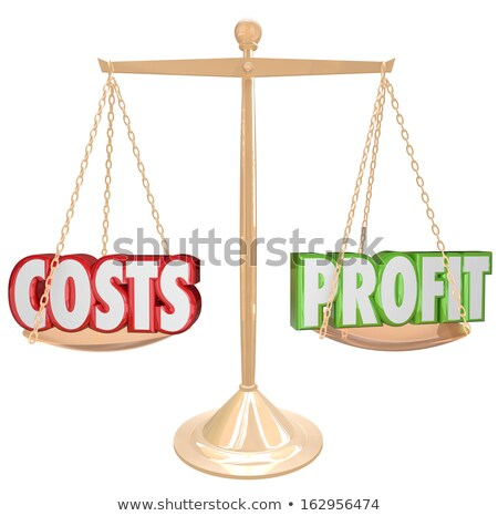 Balance scales with words cost and profit Stock photo © vectorikart