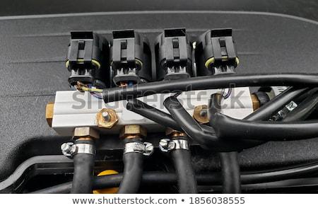 Automotive vloeibare benzine gas alternatief energie Stockfoto © simazoran