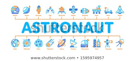 Astronaut Equipment Minimal Infographic Banner Vector Stock photo © pikepicture