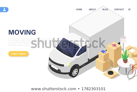 Moving house services concept vector illustration. Stock photo © RAStudio