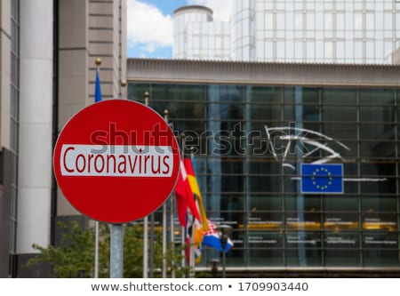European Union parlament and Covid sign Stock photo © neirfy