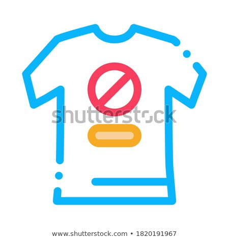 Tshirt protest icon vector schets illustratie Stockfoto © pikepicture