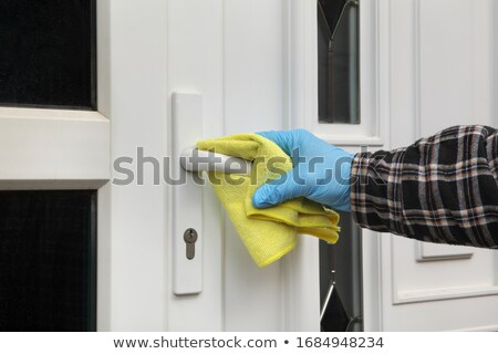 Home porta gestire pulizia fluido mano umana Foto d'archivio © simazoran