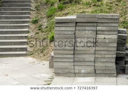 Bruk kamienie drogowego naprawy chodniku Zdjęcia stock © olira