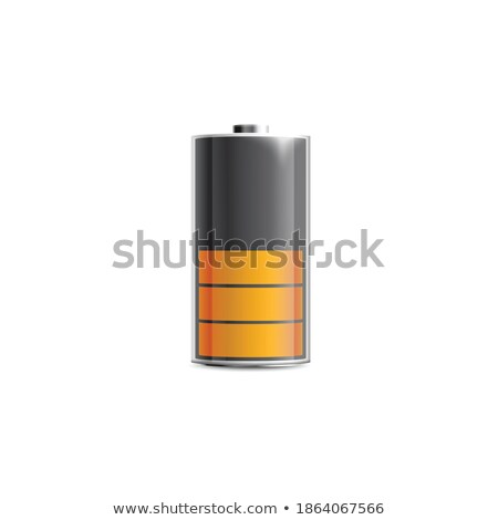Out of fuel, glossy metallic indicator on white Stock photo © evgeny89