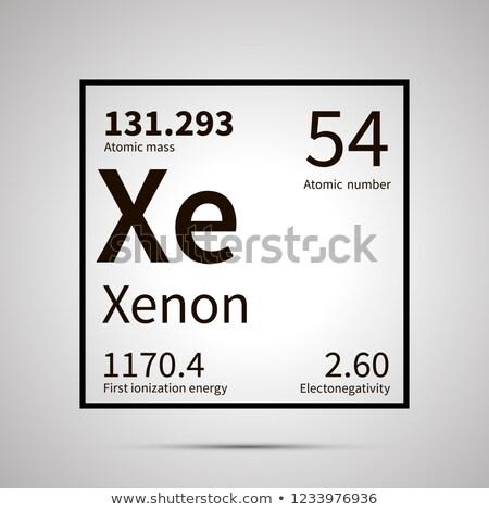 Xenon chemische element eerste energie atomair Stockfoto © evgeny89