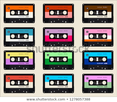 Bright audio cassette with magnetic tape, vintage object on white Stock photo © evgeny89