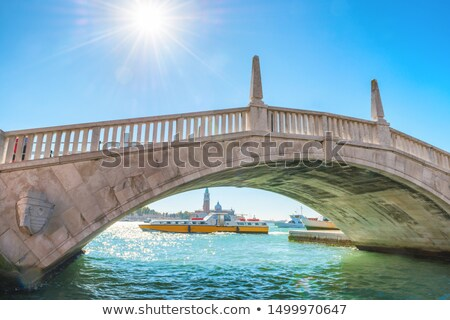 Bridge over canal and exit to bay in Venice Stock photo © vapi