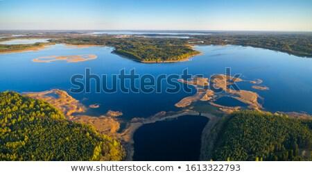 風景 湖 ベラルーシ 地区 空 森林 ストックフォト © borisb17
