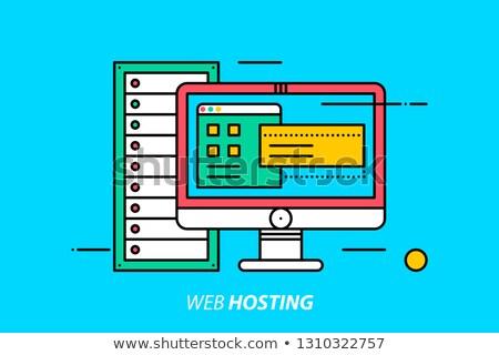 Háló hosting szolgáltatás vektor metafora információ Stock fotó © RAStudio