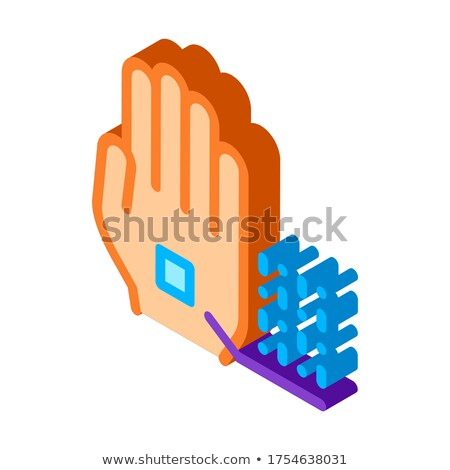 Information Chip On Hand Biomaterial isometric icon Stock photo © pikepicture