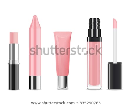 Female lips with glossy lipstick or lip gloss for make-up and beauty Stock photo © Anneleven