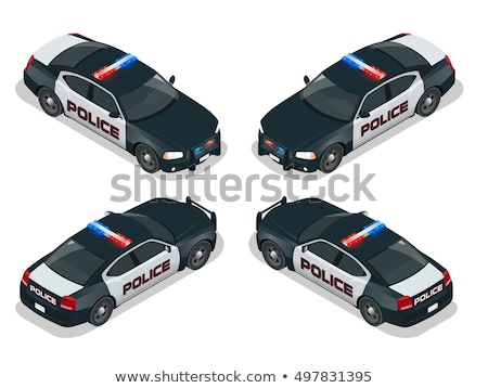 Polícia criminal carro isométrica ícone vetor Foto stock © pikepicture