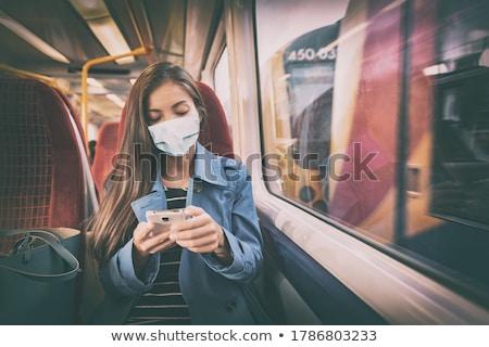 Máscara obrigatório dentro público transporte Foto stock © Maridav