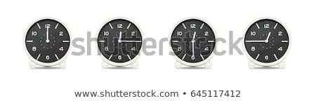 Stock photo: group of alarm clock with times 12 clock