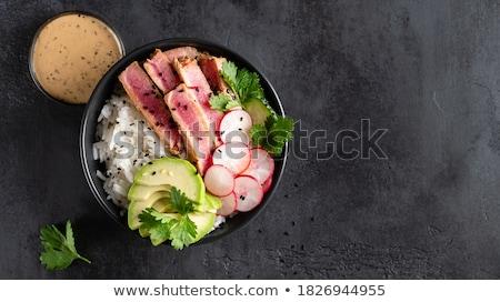 Salad Bowl Close Up Stock photo © frannyanne