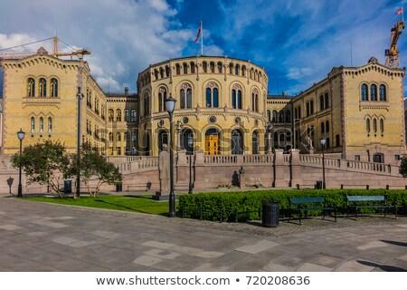 オスロ · 議会 · ノルウェー · 夕暮れ · 市 · 1泊 - ストックフォト © phbcz