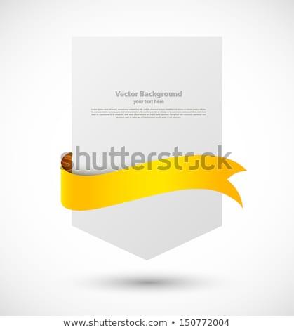 Elegantie oranje lint banner schaduw Stockfoto © premiere